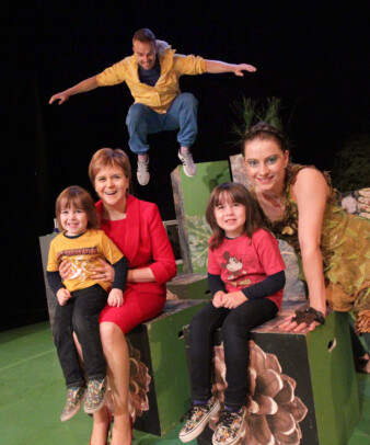 Scottish First Minister Nicola Sturgeon visits The Ark for Poggle, by Barrowland Ballet and Macrobert Arts Centre (UK), Presented by The Ark & Dublin Theatre Festival, 2017