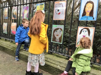 Self Portraits of the Children of Ireland on Merrion Square, part of Put Yourself in the Portrait Gallery, 2017