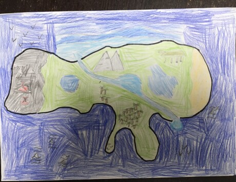 Artwork by Cathal from Harold's Cross NS